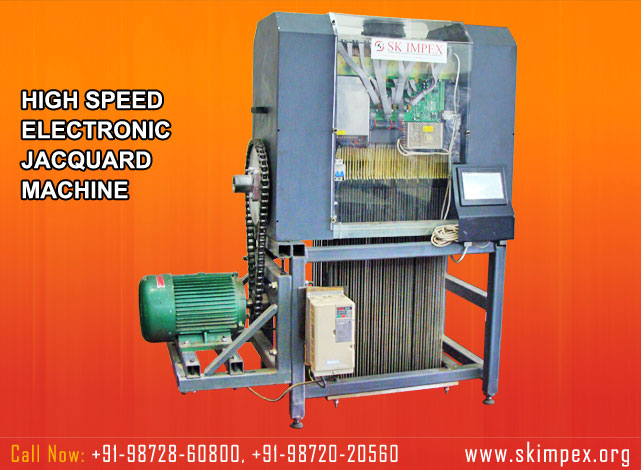 electronic jacquard machine - high speed electronic jacquard - electronic jacquard with power looms - jacquard with rapier loom manufacturers suppliers exporters in india punjab ludhiana